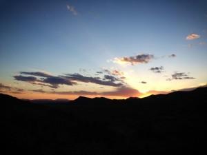 Aoudad Hunt Texas - Sunset